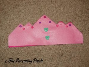 Sewing Buttons to the Felt Tiara