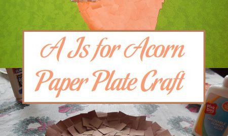 A Is for Acorn Paper Plate Craft