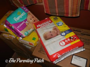 Pampers and Huggies Diaper Packages