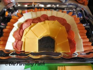 Orange Cheese Layer for Turkey Snack Platter