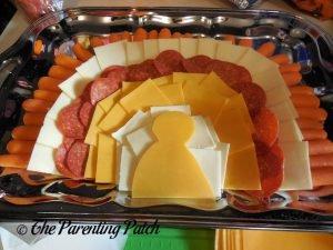 Orange Cheese Turkey Head for Turkey Snack Platter