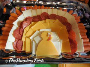 Finishing the Turkey Snack Platter