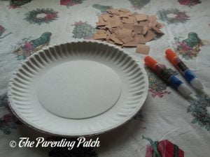 Materials for C Is for Cookie Paper Plate Craft