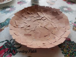 Brown Paper Covered Plate for C Is for Cookie Paper Plate Craft