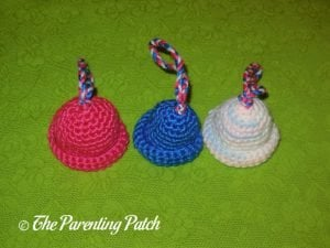 Finished Crocheted Miniature Hat Christmas Ornaments