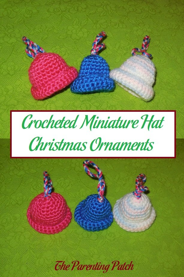 Crocheted Miniature Hat Christmas Ornaments