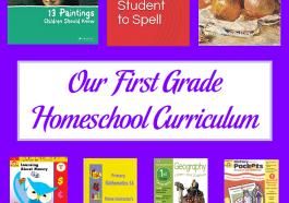 Our First Grade Homeschool Curriculum