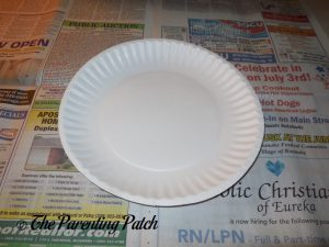 White Paper Plate for H Is for Hamburger Paper Plate Craft