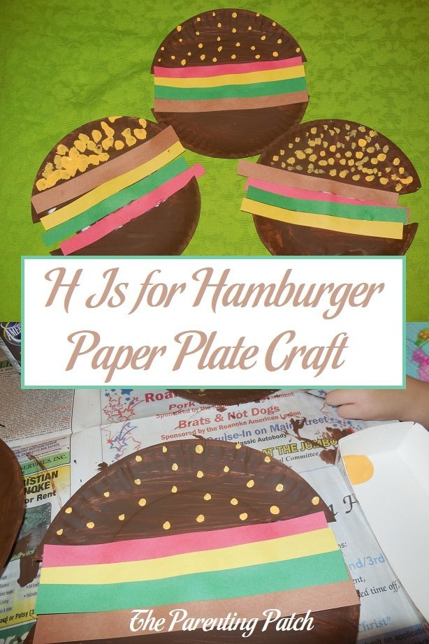 H Is for Hamburger Paper Plate Craft