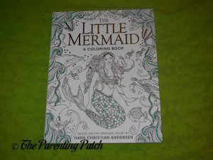 Front Cover of 'The Little Mermaid: A Coloring Book'