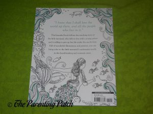 Back Cover of 'The Little Mermaid: A Coloring Book'