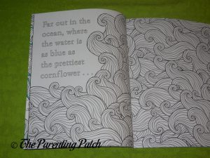 Inside Pages of 'The Little Mermaid: A Coloring Book' 1