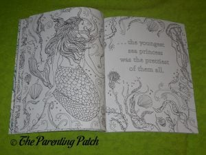 Inside Pages of 'The Little Mermaid: A Coloring Book' 2