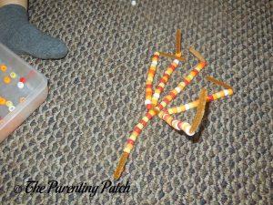 Beads on the Pony Bead Indian Corn Craft