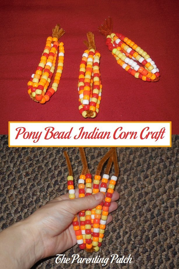 Pony Bead Indian Corn Craft