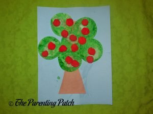 Red Apple Cupcake Liner Apple Tree Craft