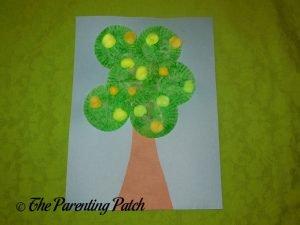 Yellow Apple Cupcake Liner Apple Tree Craft
