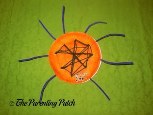 Orange S Is for Spider Halloween Paper Plate Craft