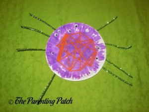 Purple S Is for Spider Halloween Paper Plate Craft