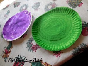 Colored Paper Plates for the S Is for Spider Halloween Paper Plate Craft