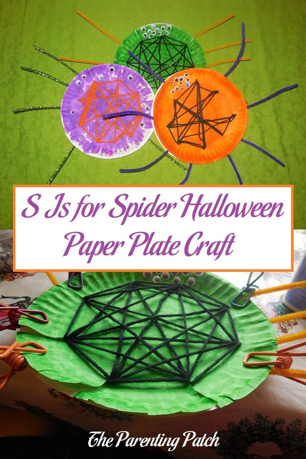 S Is for Spider Halloween Paper Plate Craft
