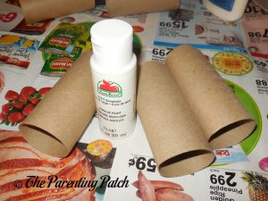 Materials for Halloween Ghost Toilet Paper Roll Craft