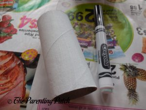White Toilet Paper Tube for Halloween Ghost Toilet Paper Roll Craft
