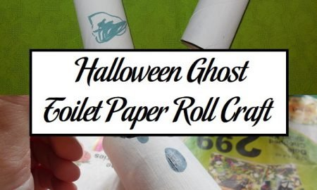 Halloween Ghost Toilet Paper Roll Craft