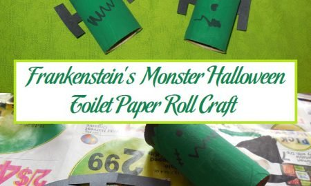 Frankenstein's Monster Halloween Toilet Paper Roll Craft