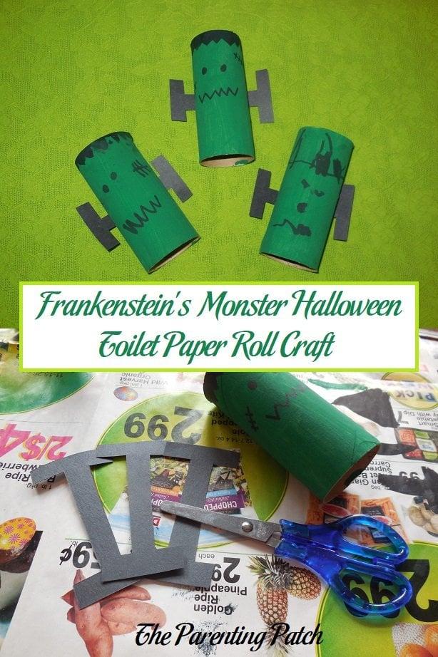 Frankenstein's Monster Halloween Toilet Paper Roll Craft