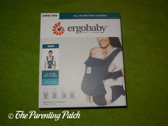 aae0db23d66 Front of Ergobaby Omni 360 All-in-One Baby Carrier Box ...