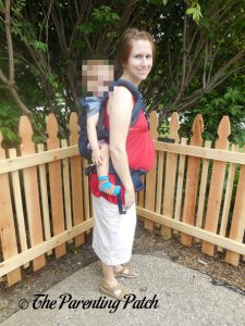Toddler in Back Carry Position in Ergobaby Omni 360 All-in-One Baby Carrier 1