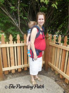Toddler in Back Carry Position in Ergobaby Omni 360 All-in-One Baby Carrier 2