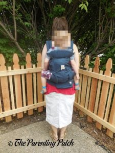 Toddler in Back Carry Position in Ergobaby Omni 360 All-in-One Baby Carrier 3