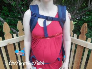Front View with Toddler in Back Carry Position in Ergobaby Omni 360 All-in-One Baby Carrier