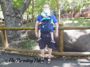 Toddler in Forward-Facing Front Carry Position in Ergobaby Omni 360 All-in-One Baby Carrier 2