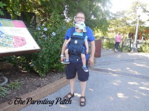 Toddler in Outward-Facing Front Carry Position in Ergobaby Omni 360 All-in-One Baby Carrier 1