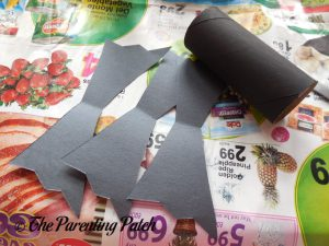 Bat Wings for the Black Bat Halloween Toilet Paper Roll Craft