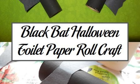 Black Bat Halloween Toilet Paper Roll Craft