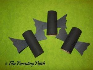 Finished Black Bat Halloween Toilet Paper Roll Crafts