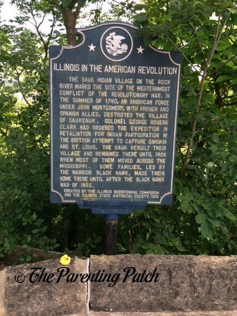 The Duck and the Illinois in the American Revolution Historical Marker