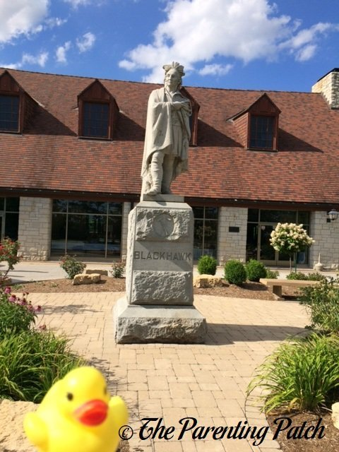 The Duck and the Statue of Black Hawk