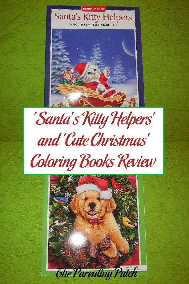santas kitty helpers and cute christmas coloring books review