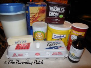 Ingredients for Chocolate Pie