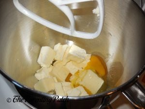 Butter and Eggs for Fruitcake Cookies