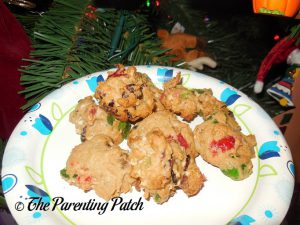 Finished Fruitcake Cookies