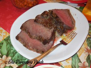 Slices of Prime Rib Roast