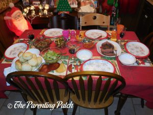 Prime Rib Roast Holiday Meal Table 1