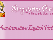 Monotransitive English Verbs