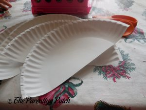 Paper Plate Halves for U Is for Umbrella Paper Plate Craft